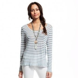 CP Shades 100% Linen Gia Striped Lagenlook Top